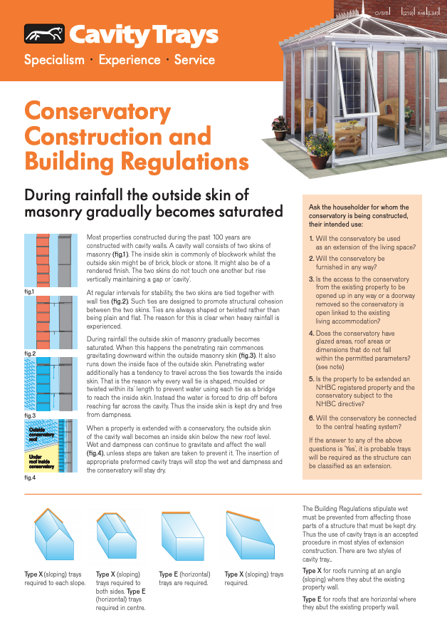 Conservatory Construction and Building Regulations 2017