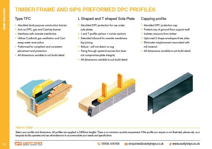 Profiled DPC's for Timber Frame and SIPS Systems Datasheet