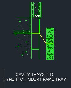 Type TFC Timber Frame Cavitray CAD 5