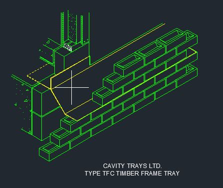 Type TFC Timber Frame Cavitray CAD 6