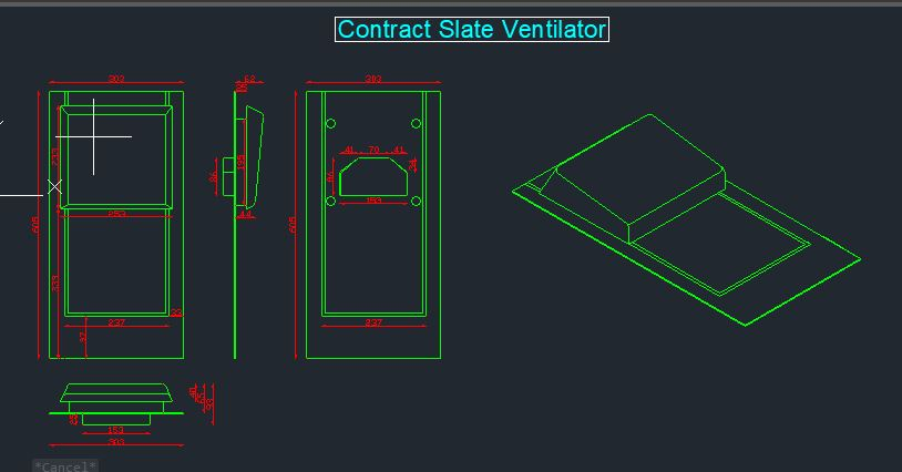 Contract Slate Ventilator CAD 6