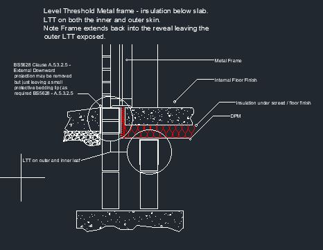 Type LTT Level Threshold Tray CAD 5