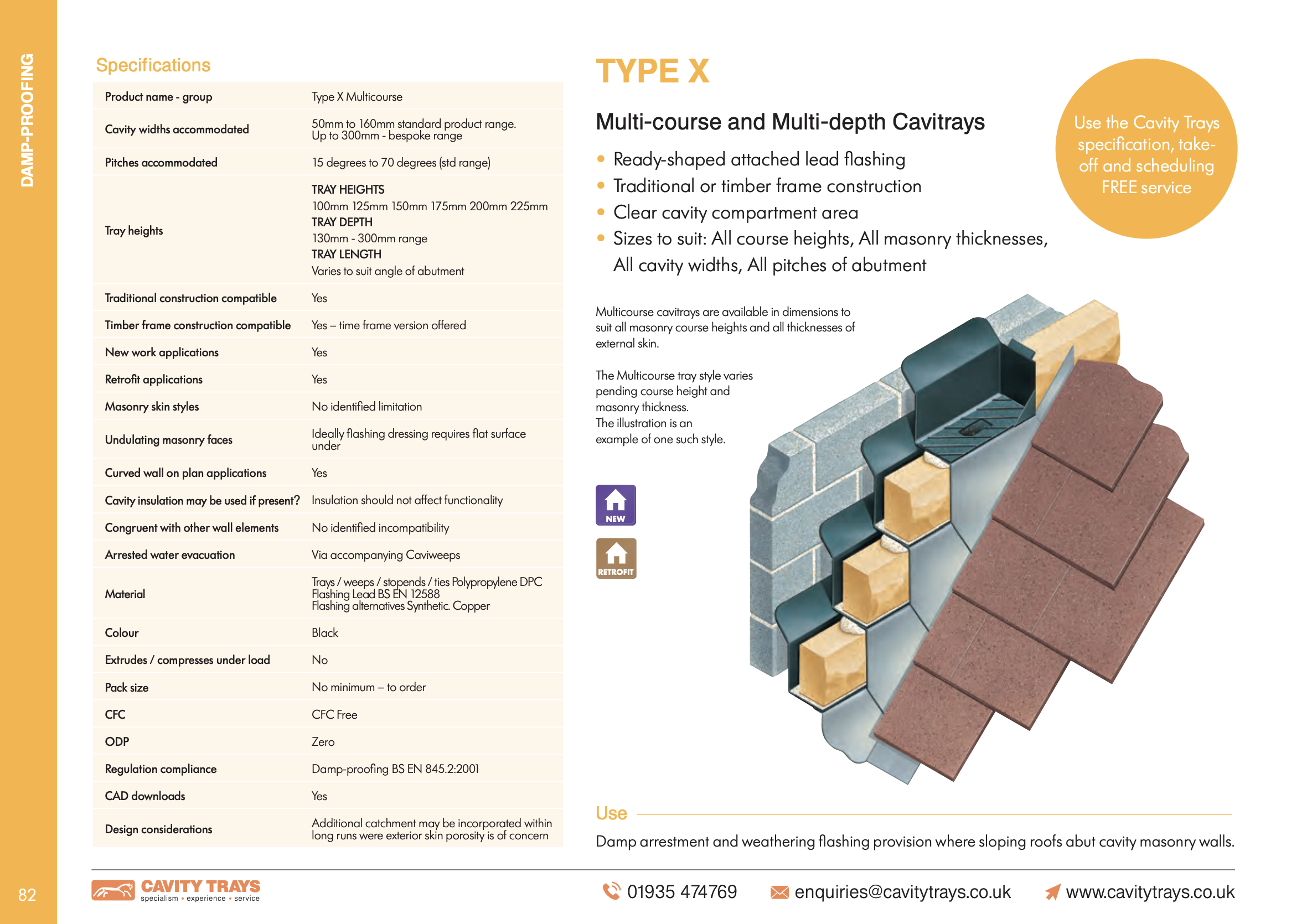 Type X Multi-course and Multi-depth Datasheet