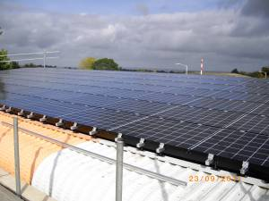 Cavity Trays Production Uses Photovoltaic Panel Power